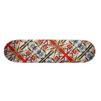 Skateboard Old School 18,1 Cm Art géométrique abstrait peint parMain moderne