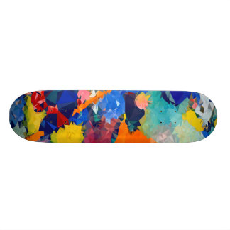 Skateboard Old School 18,1 Cm Bas poly rouge et le bleu fait de la planche à