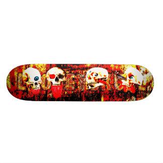 Skateboard Old School 18,1 Cm Crânes d'enfer