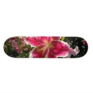 Skateboard Old School 18,1 Cm Hémérocalles roses