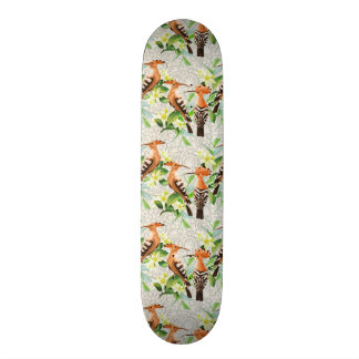 Skateboard Old School 18,1 Cm Oiseaux exotiques sur la dentelle
