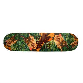 Skateboard Old School 18,1 Cm Planche à roulettes rouge de chien