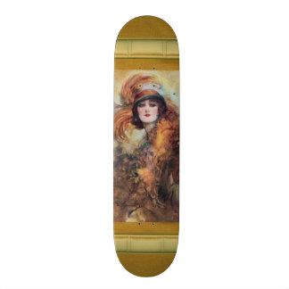 Skateboard Old School 18,1 Cm Planche à roulettes victorienne de femme