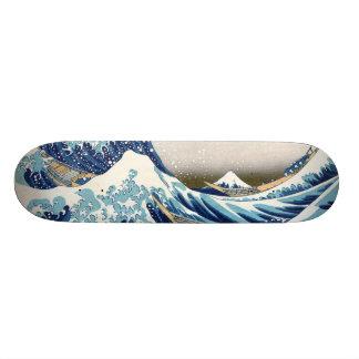 Skateboard Old School 21,6 Cm grande vague de 北斎 outre des beaux-arts de