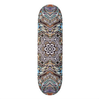Skateboard Old School 21,6 Cm Motif de tons de la terre
