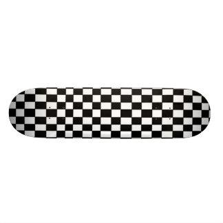 Skateboard Old School 21,6 Cm Planche à roulettes Checkered noire et blanche