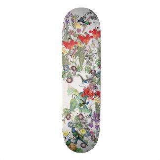 Skateboard Planche à roulettes florale animale de faune