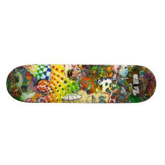 Skateboard Planche à roulettes psychédélique