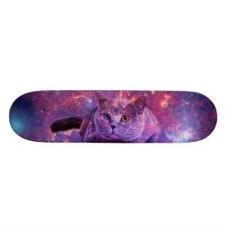 Skateboard Plate-forme de patin de chat de galaxie
