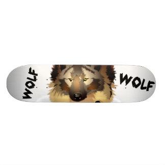 Skateboard Plate-forme fraîche de planche à roulettes de loup