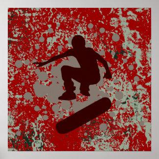 skateboarding de haute fidélité : bulles : affiches