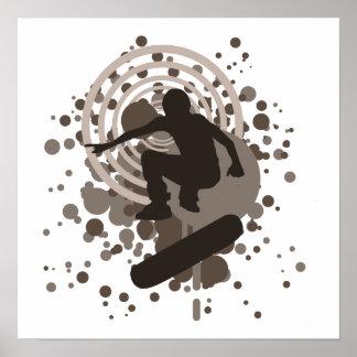 skateboarding de haute fidélité : bulles : poster