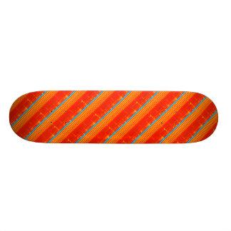 Skateboards Customisés Rayures bleues rustiques fraîches de rouge de