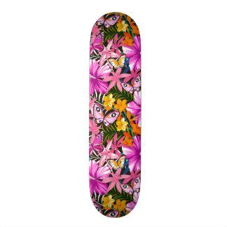 Skateboards Cutomisables Feuille et fleurs tropicaux