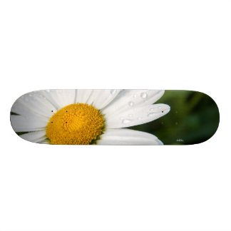 Skateboards Cutomisables photo une margueritte, goutte d'eau, font vert