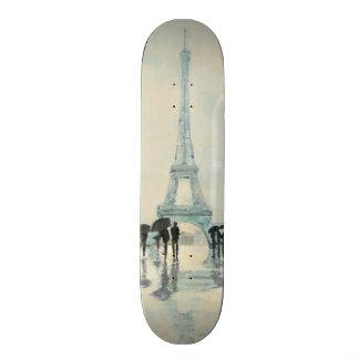 Skateboards Cutomisables Tour Eiffel | Paris sous la pluie