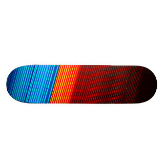 Skateboards Personnalisables Rayures noires rouges bleues FRAÎCHES de jaune