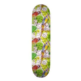Skateboards Personnalisés Perroquets tropicaux