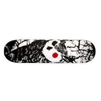 Skateboards Personnalisés Planche à roulettes de hibou observée par rouge