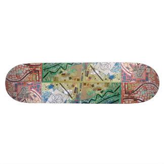 Skateoard Personnalisé Mosaïque de patchwork d'art de Phoenix