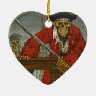 SkeletonCrew.JPG Ornement Cœur En Céramique