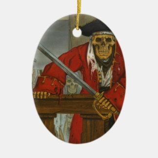 SkeletonCrew.JPG Ornement Ovale En Céramique