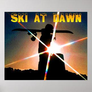 ski à l aube affiches