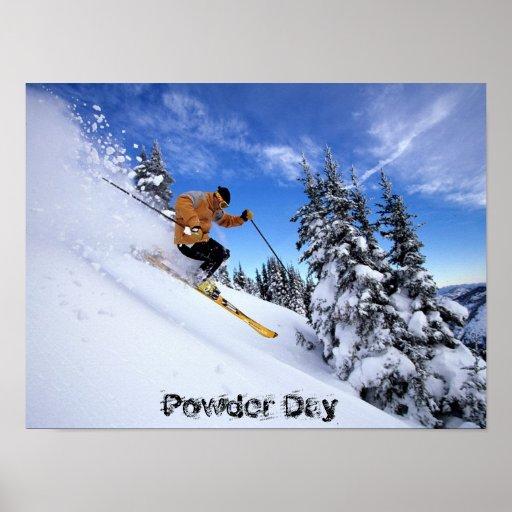 ski-à travers-neige-wallposter
