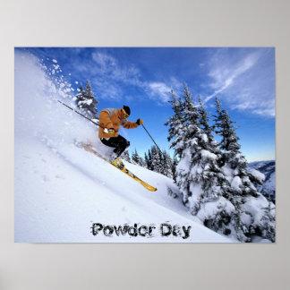 ski-à travers-neige-wallposter poster