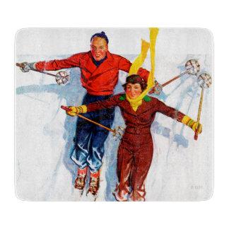 Ski alpin de couples planches à trancher