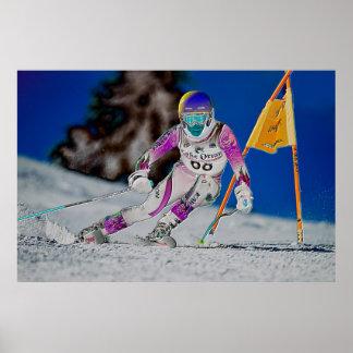 Ski alpin emballant l affiche D1429027