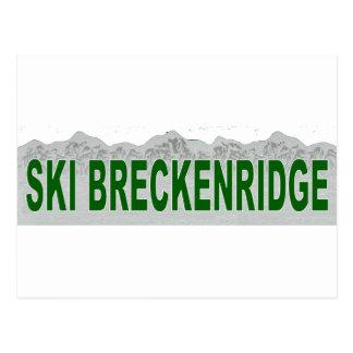 Ski Breckenridge, le Colorado Carte Postale