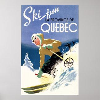 Ski de femme - affiche anglaise et française