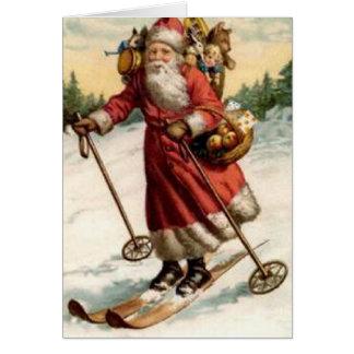 Ski de Nicholas de saint de Joyeaux Noel Carte De Vœux