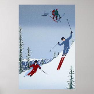 Ski de paysages posters