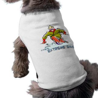 Ski extrême t-shirt pour chien