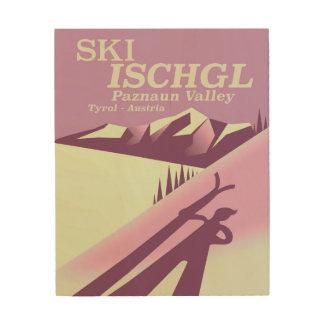 Ski Ischgl, vallée Tyrol de Paznaun Impression Sur Bois