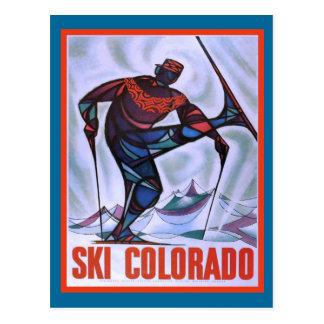 Ski le Colorado Carte Postale