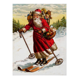 Ski le père noël poster