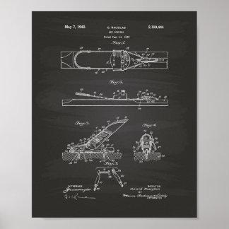 Ski liant l'art de 1940 brevets - tableau poster