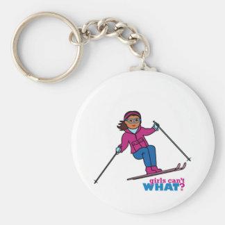 Ski - obscurité porte-clé rond