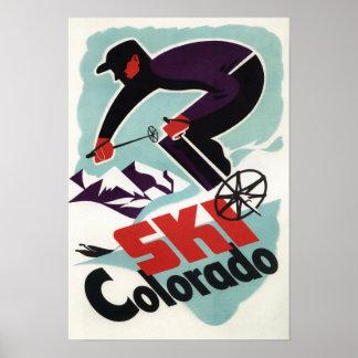 Posters ski vintage sur Zazzle