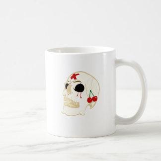 skull mug blanc