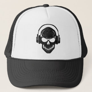 Skull with Headphones - rave - Electro - style Casquette
