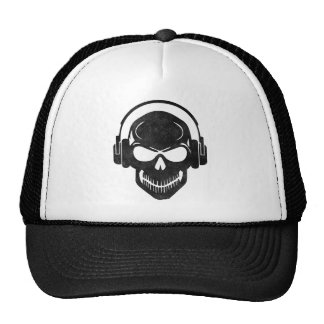 Skull with Headphones - rave - Electro - style Casquette Trucker