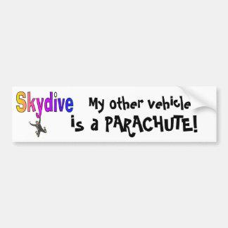 Skydive- mon autre véhicule, est un PARACHUTE ! Autocollant Pour Voiture