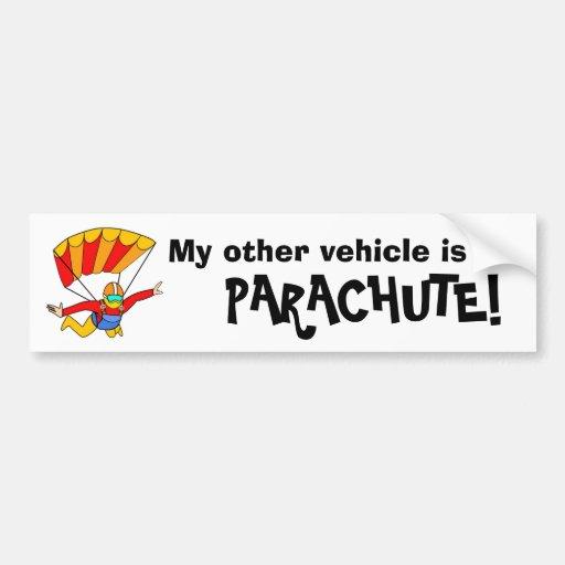 Skydive - mon autre véhicule est un PARACHUTE ! Autocollant Pour Voiture