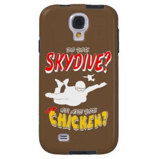 Skydive ou poulet ? (blanc) coque galaxy s4