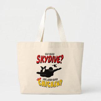 Skydive ou poulet ? (noir) grand tote bag