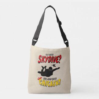 Skydive ou poulet ? (noir) sac ajustable
